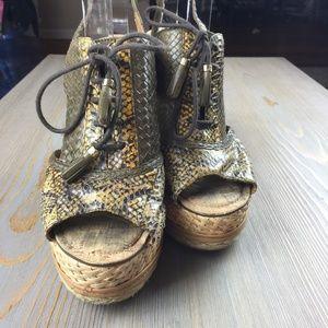 96587060a96a63 Sam Edelman Shoes - Sam Edelman Tinley Snakeskin Platform Wedge